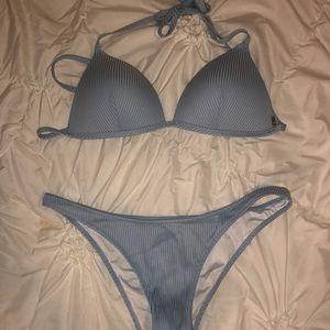 PINK Victoria's Secret Swim - Blue PINK bikini